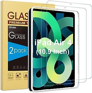 SPARIN 2 Stück Schutzfolie kompatibel mit iPad Air 4 2020 (10,9 Zoll), Panzerglasfolie mit Positionierhilfe