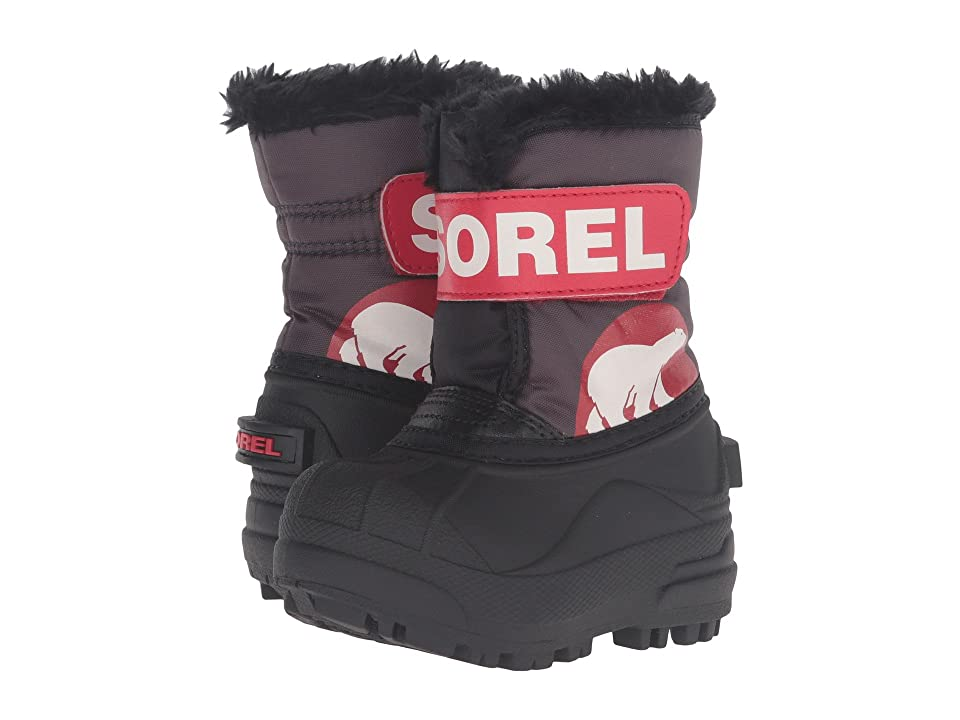 SOREL Kids Snow Commandertm (Toddler) (Dark Grey/Bright Red) Kids Shoes