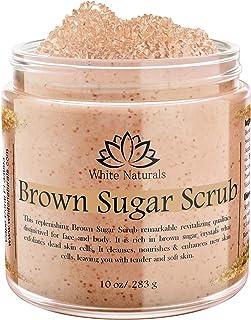 CHRISTMAS SALE! Brown Sugar Scrub, Organic Exfoliating Face & Body Scrub, Revitalizing Sugar Scrubs for Women, Gentle Exfo...