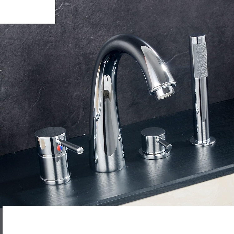 Kupfer Warmwasser Badewanne Wasserhahn Edge of Four-Cylinder Dusche Kit-I
