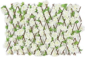 Kunstmatige Hek Houten Hedge Screenen Met Bloemen Privacy, Tuin Decoratie Hek Voor Achtertuin Home Decor,E,Small