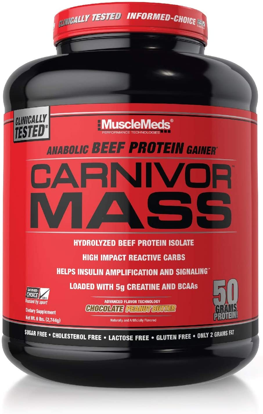 MuscleMeds Carnivor Mass Anabolic It is very popular Beef Max 85% OFF Gainer Protein Chocolate