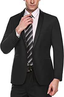 COOFANDY Men's Slim Fit Blazer Jacket Casual One Button Suit Coat