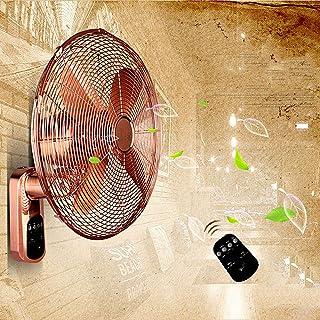 HRD Ventilador de Pared de Metal Vintage, con Control Remoto/Temporizador, Ventilador oscilante Comercial de Restaurante, 18 Pulgadas (operación Manual)
