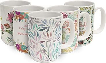 Watercolor Leaves 15 OZ. Ceramic Coffee Mug