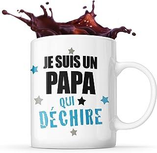 Mug Life Mug Papa Cadeau « Je suis un papa qui déchire »   Résistant au Lave-Vaisselle et Micro-Ondes   Hauteur : 9,7 cm –...
