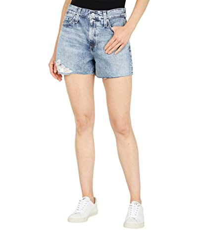 AG Adriano Goldschmied Alexxis High-Rise Vintage Shorts in 25 Years Calico