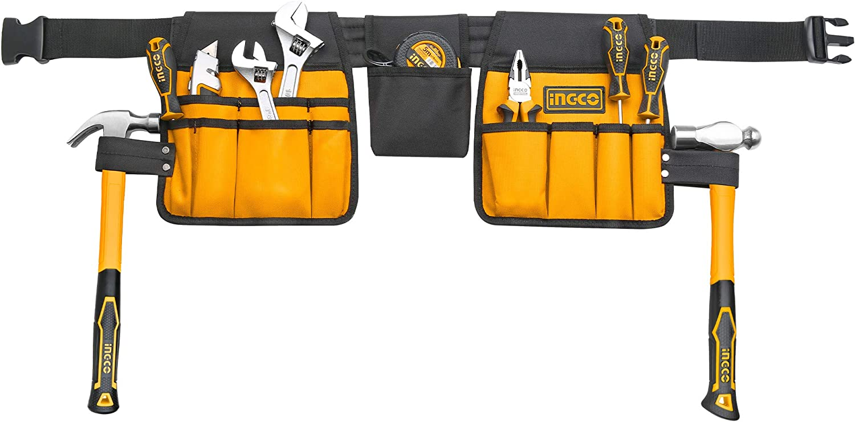 INGCO 14 Pocket 600D Polyester Multi-Purpose Belt Genuine Tool Work Weekly update Apro