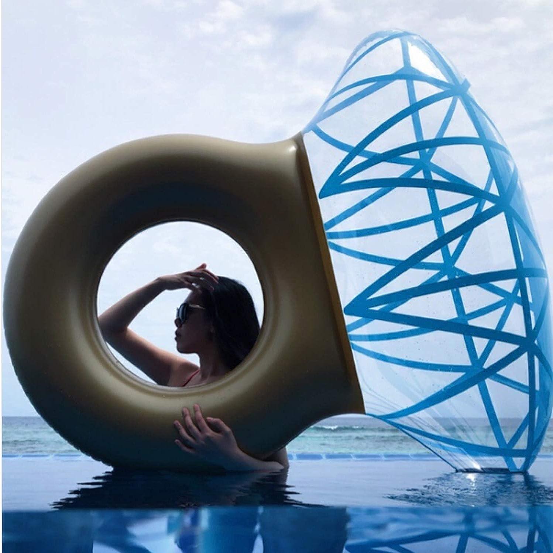 GYFY Diamantring-Schwimmring Umweltwasser aufblasbare Erwachsene Fotostützenreisefotografie Sich hin- und herbewegende Reihe