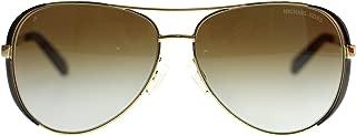 Chealsea Womens Sunglasses M5004 1014T5 Gold Aviator Polarized 59mm