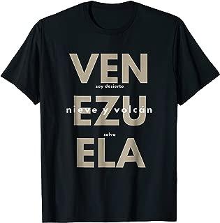 Venezuela T-shirt franela Soy Desierto Selva Nieve y Volcan2