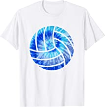 Volleyball Tie Dye Blue Purple Voleyball Lovers Girls Gift T-Shirt