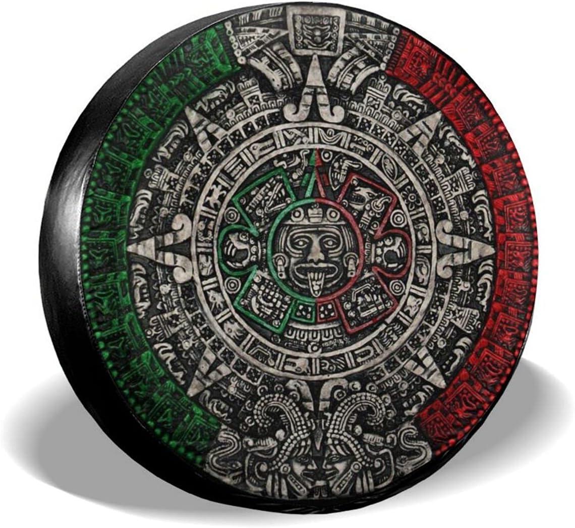 Zusolf Aztec Calendar Mexico Lowest price challenge Spare Cover Tire Spasm price Chicano