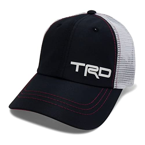 2147b157e7e CarBeyondStore Toyota TRD Palmer Mash Back Black Baseball Cap