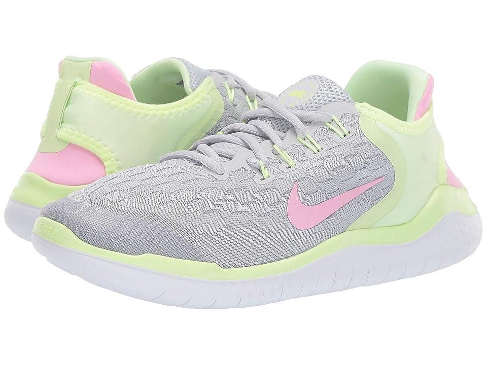 Nike Kids Free RN 2018 (Big Kid) (Pure Platinum/Pink Rise/Barely Volt) Girls Shoes