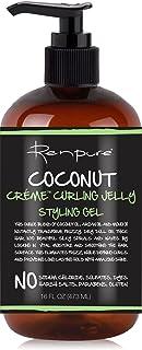 RENPURE Creme Curling Jelly Styling Hair Gel, Coconut 16 Fl Oz