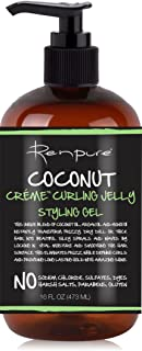 Renpure Coconut Creme Curling Jelly Styling Hair Gel, 16 Oz