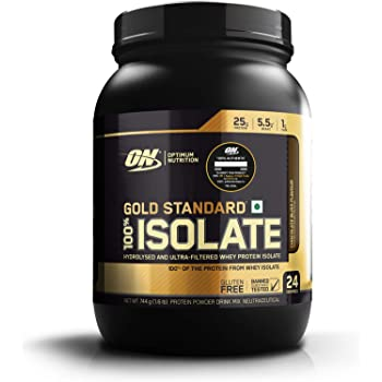 Optimum Nutrition (ON) Gold Standard 100% Isolate Whey Protein Powder - 1.6 lb, 24 servings (Chocolate Bliss)