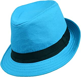 boxed-gifts Solid Color Summer Men's Fedora Hat