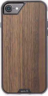 Mous Carcasa Protectora para iPhone 8, 7, 6s y 6 - Madera de Nogal Auténtica - Protector de Pantalla Incluido