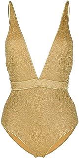 Luxury Fashion   Oseree Women LDS205GOLD Gold Elastane One-piece Suit   Spring-summer 20