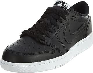 Nike Jordan Kids Air Jordan 1 Retro Low Og BG Black/White Basketball Shoe 6 Kids US