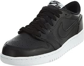 Jordan Big Kids Air Jordan 1 Retro Low OG (Black/White) Size 6 US