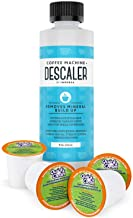 Cleaning and Descaler Kit - 2 Uses Per Bottle Plus 4 Cleaning Cups Compatible with Keurig K-Cup Pod Machines - Made in USA - Universal Descaling Solution and Stain Remover