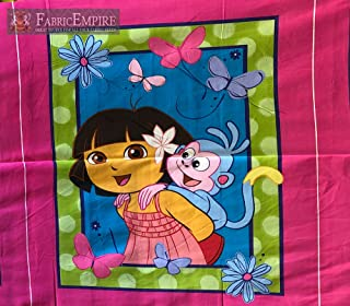 100% Cotton Panel Fabric Prints Dora The Explorer and Boots Licensed 45