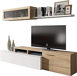 Habitdesign - Mueble de salón Comedor Moderno, Medidas:
