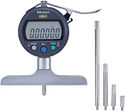 Mitutoyo 547-258SCAL Absolute Digimatic Depth Gauge with Calibration, Inch/Metric, Indicator Type, 4