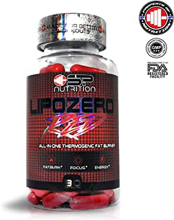 SP NUTRITION LIPOZERO RED 90 Capsules Complete Multistage THERMOGENIC for Fat Burner Electric Energy Accelerate Metabolism Weight Loss