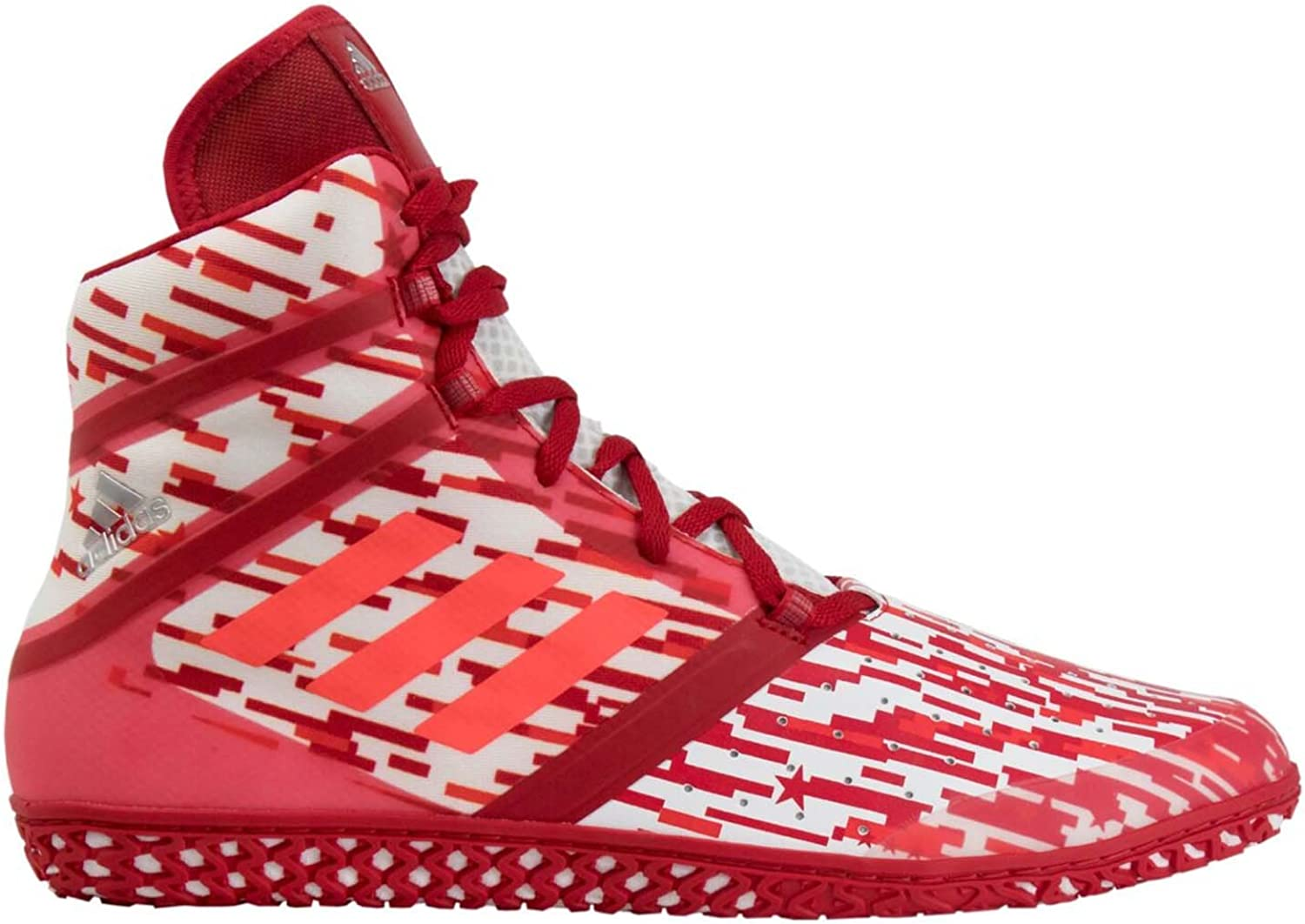 Adidas Impact Men's Wrestling shoes, Red Digital Print, Size 13