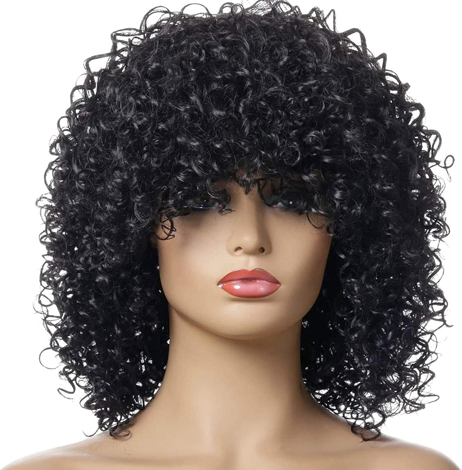 HTDYLHH Natural Beautiful Wigs Short latest for Curly Max 63% OFF Black Kinky