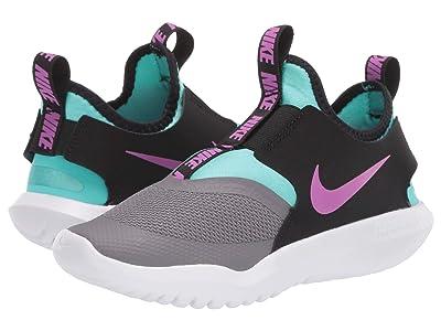 Nike Kids Flex Runner (Little Kid) (Gunsmoke/Hyper Violet/Black/Aurora Green) Kids Shoes