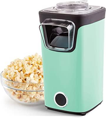 DASH DAPP155GBAQ06 Turbo POP Popcorn Maker + Measuring Cup for Kernels and to Melt Butter, 8, Aqua