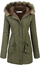 Beyove Womens Hooded Warm Winter Coats with Faux Fur Lined Outwear Jacket