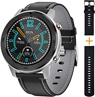 UWINMO Smart Watch for Android and iOS Phones,Smart Watch for Men and Women,Fitness Tracker with Heart Rate & Blood Pressure Monitoring, IP68 Waterproof, 1.3-inch Full-Touch Sports Pedometer Watch