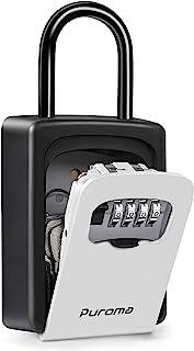 Puroma Key Lock Box for House Keys, Realtor's Waterproof Combination Lockbox Portable Resettable Wall Mounted & Hanging Ke...