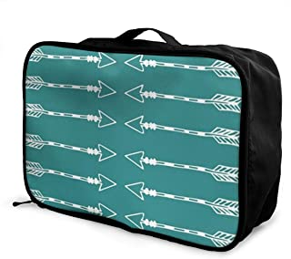 MLIDHDY Tribal Arrows Teal Young Men and Women School Luggage Bag 5.9