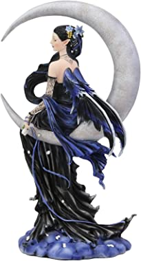 """Ebros Large Celestial Crescent Moon Solace Fairy Statue 12"""" H by Nene Thomas Decorative Mythical Fantasy Figurine Collect"""