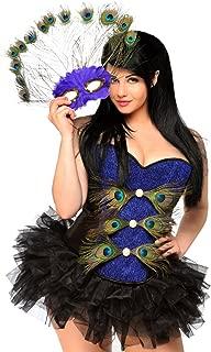 Daisy Corsets Women's 3 Piece Sexy Pretty Peacock Costume