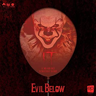 IT Evil Below Cooperative Dice Game   Officially Licensed IT Chapter 1 Board Game & Merchandise   Defeat Pennywise & Save Derry, Maine   Based on The IT Movie Franchise