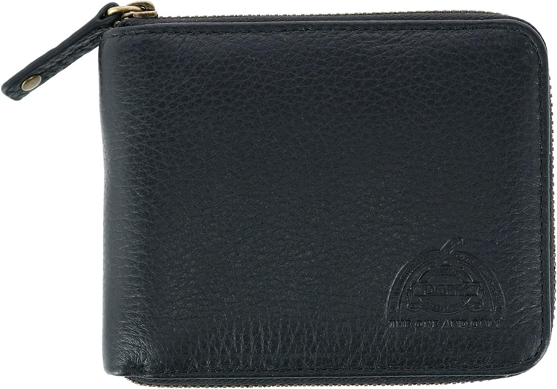 Dopp Men's Soho Rfid Blocking Leather Zip-around Wallet