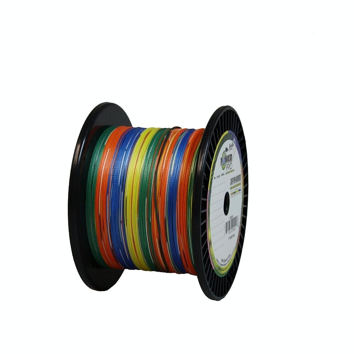 共同選択消化器邪魔するPower Pro Braided Spectra Line 80lb by 1500yds Depth Hunter Multicolor (9408)