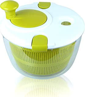 BRITOR Salad Spinner Large 5 Quarts Fruits and Vegetables Dryer Quick Dry Design Dry Off and Drain Lettuce and Vegetable w...