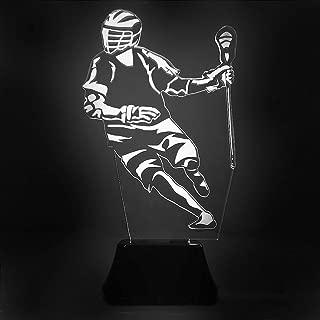 ChalkTalkSPORTS Lacrosse Acrylic LED Lamp | Lax Lamps Multiple Designs