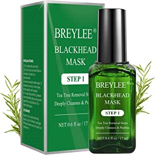 Blackhead Remover Mask, BREYLEE Tea Tree Oil Blackhead Pore Strips Mask Blackhead Removal Strpis Nose Strips Peeling Mask ...