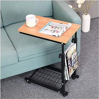 colore originale piccolo tavolino per soggiorno per divano tavolo per piante lampada in bamb/ù durevole e stabile Tavolino da salotto in legno a 2 ripiani telefono multiuso diametro 39 cm