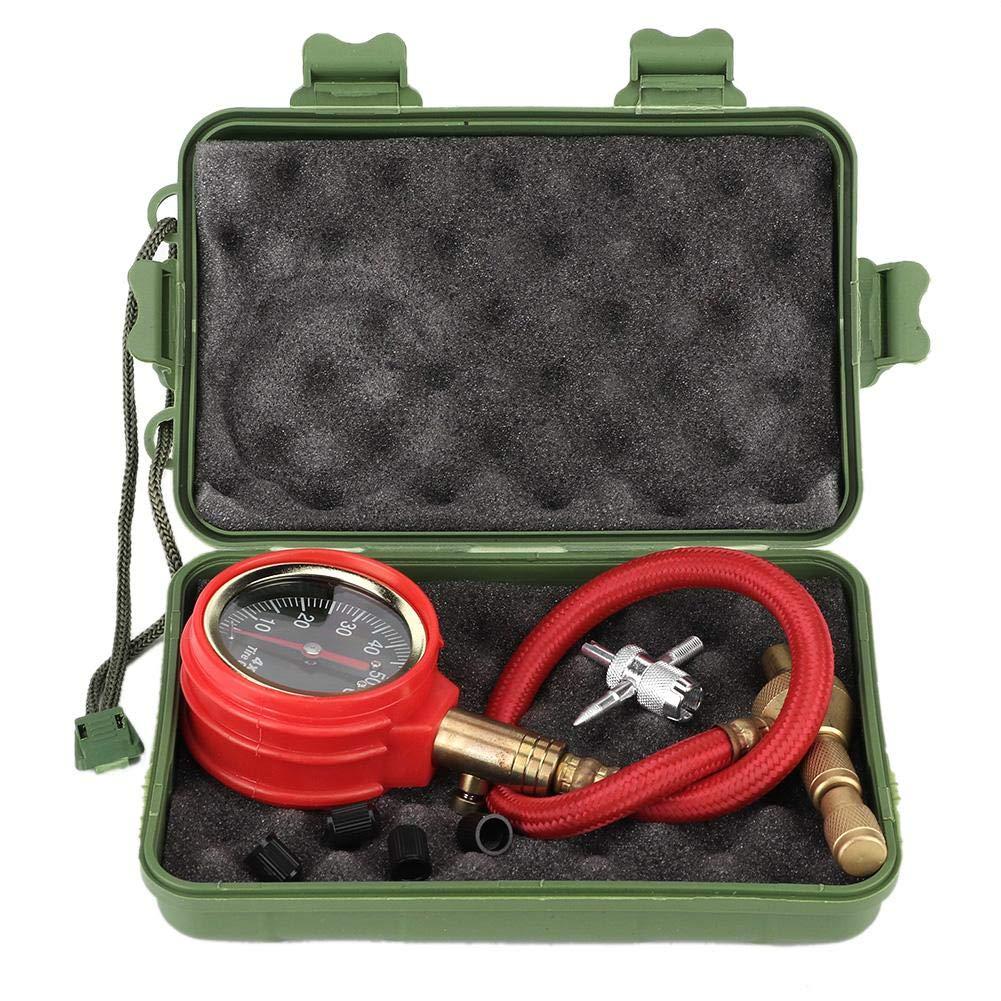 Medidor de presión de neumáticos, medidor de presión de aire de neumáticos de coche portátil, medidor de dial, probador de alta precisión.